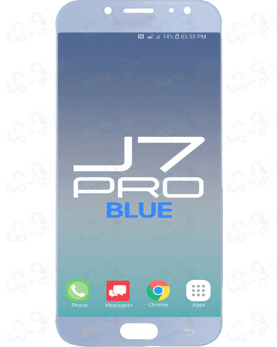 Samsung J7 Pro LCD with Touch Blue