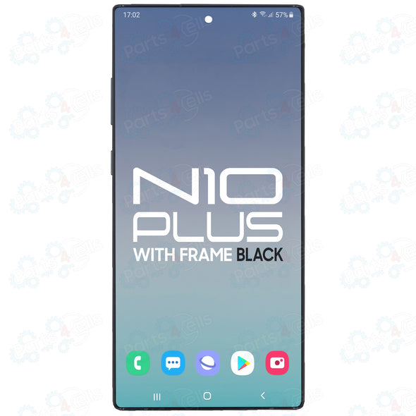 Samsung Note 10 Plus LCD With Touch + Frame Aura Black