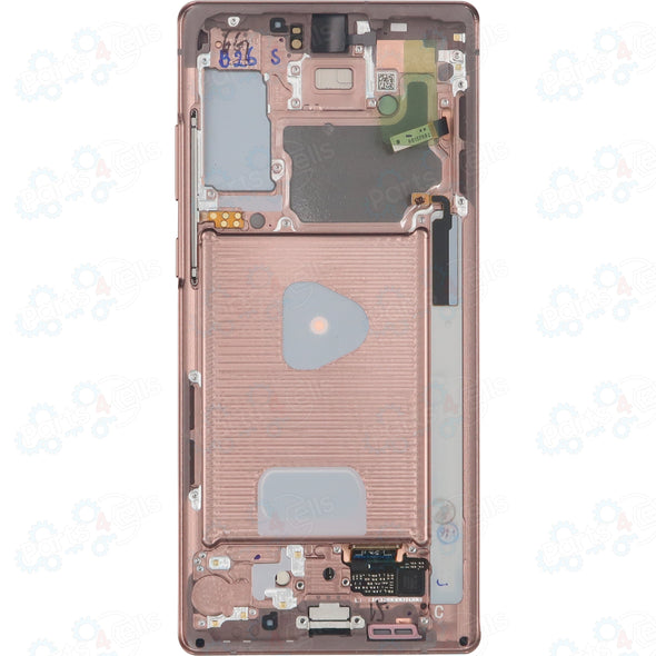 Samsung Note 20 5G LCD with Touch & frame Mystic Bronze - Back
