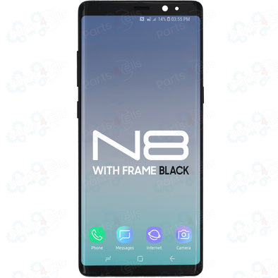 Samsung Note 8 LCD With Touch + Frame Black