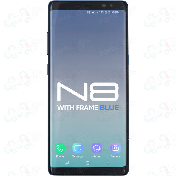 Samsung Note 8 LCD With Touch + Frame Coral Blue