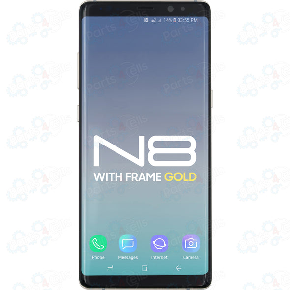 Samsung Note 8 LCD With Touch + Frame Gold
