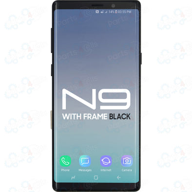 Samsung Note 9 LCD With Touch + Frame Black