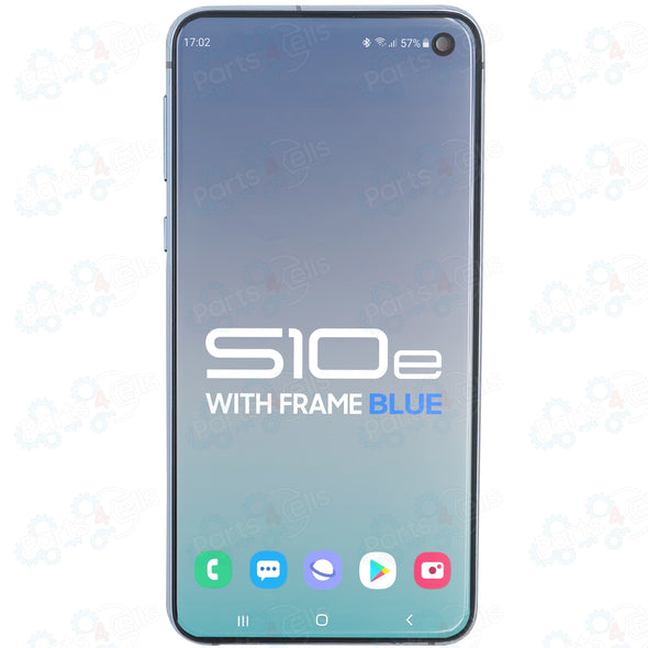 Samsung Galaxy S10E LCD with Touch + Frame Prism Blue