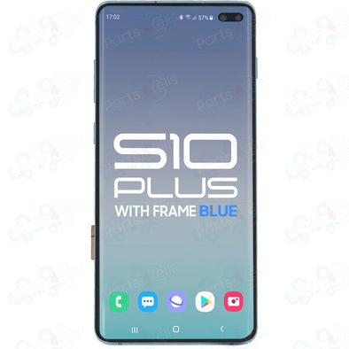 Samsung S10 Plus LCD with Touch + Frame Prism Blue