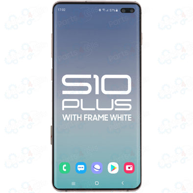 Samsung S10 Plus LCD with Touch + Frame Ceramic White
