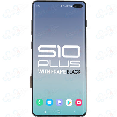Samsung S10 Plus LCD with Touch + Frame Prism Black SERVICE PACK