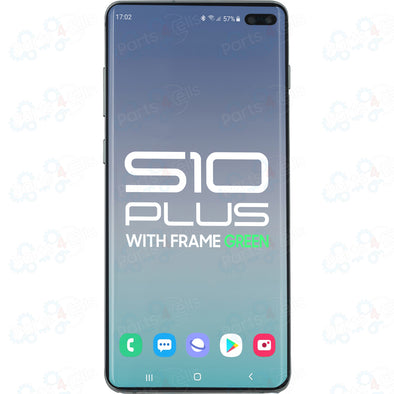 Samsung S10 Plus LCD with Touch + Frame Prism Green SERVICE PACK