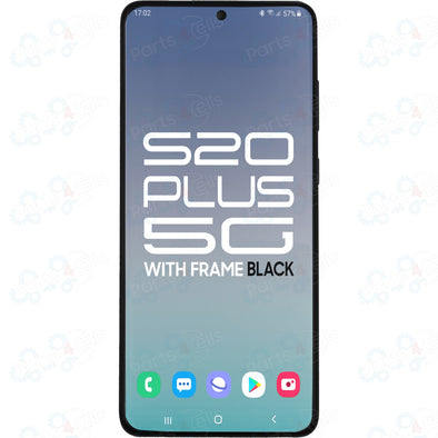 Samsung S20 Plus 5G LCD with Touch + Frame Cosmic Black