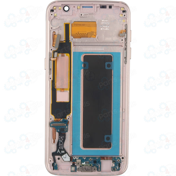 Samsung S7 Edge LCD With Touch + Frame Coral Blue