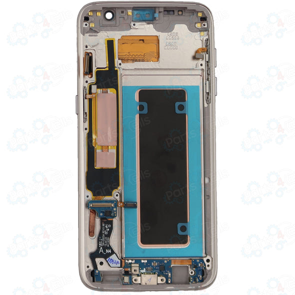 Samsung S7 Edge LCD With Touch + Frame Gold