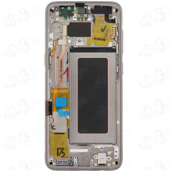 Samsung S8 LCD With Touch + Frame Gold
