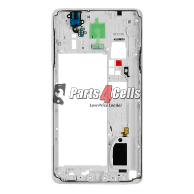 Samsung Note 4 Middle Frame CDMA White-Parts4Cells