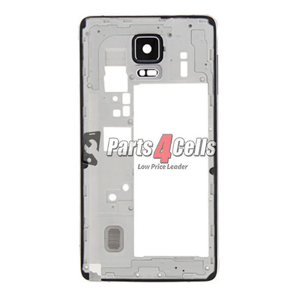 Samsung Note 4 Mobile Middle Frame GSM White-Parts4sells