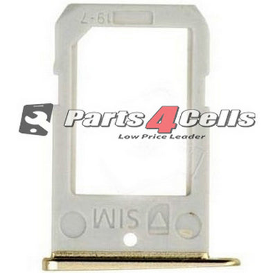 Samsung S6 Edge Sim Tray Gold-Parts4Cells