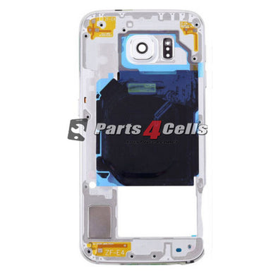Samsung S6 Middle Frame White-Parts4Cells