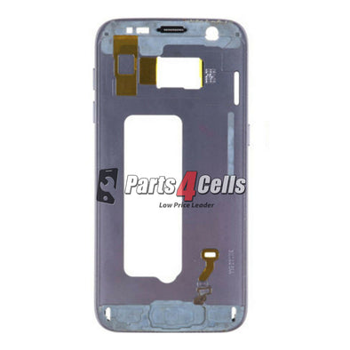 Samsung S7 Edge Middle Frame Blue-Parts4Cells