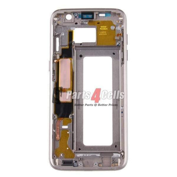 Samsung S7 Phone Middle Frame Gold-Parts4Cells