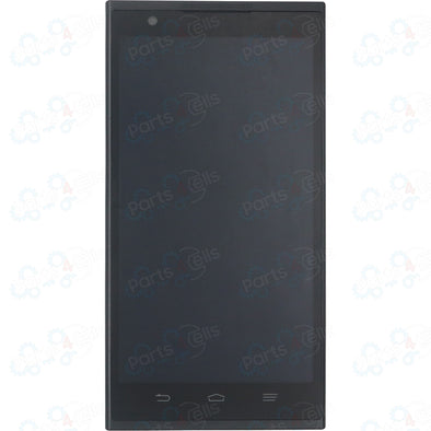 ZTE Z970 ZMax LCD With Touch + Frame  Black