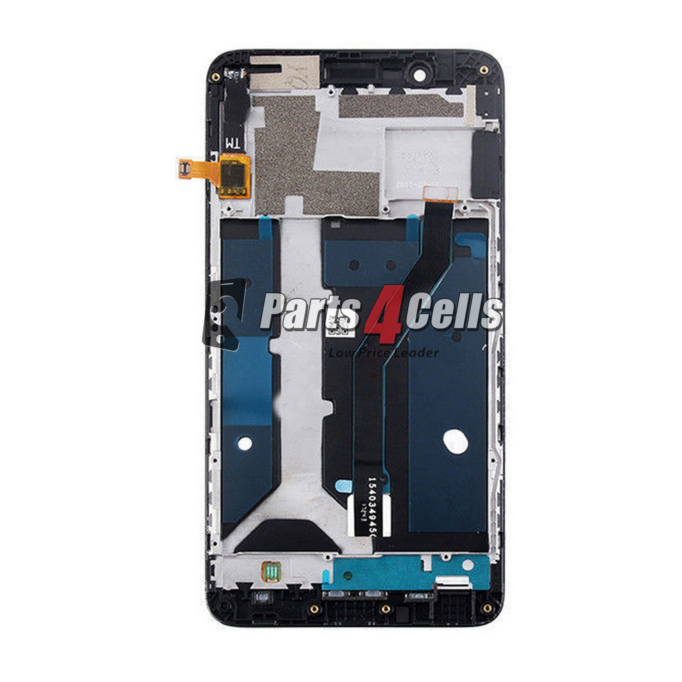 ZTE Z982 Blade Z Max LCD With Touch Black  Frame-Parts4Cells