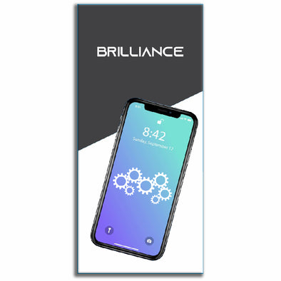 Brilliance iPhone 7 LCD with Touch And Back Plate Black