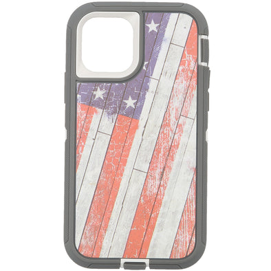 iPhone 11 Pro Camo Series Case Wooden American Flag