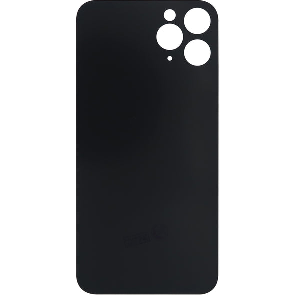 iPhone 11 Pro Max Back Glass without Lens Black (No Logo)