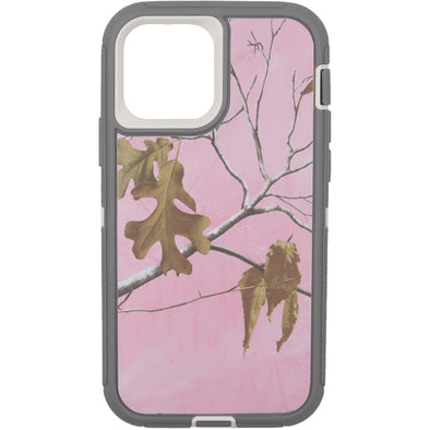 iPhone 12 / iPhone 12 Pro Camo Series Case Pink and Grey
