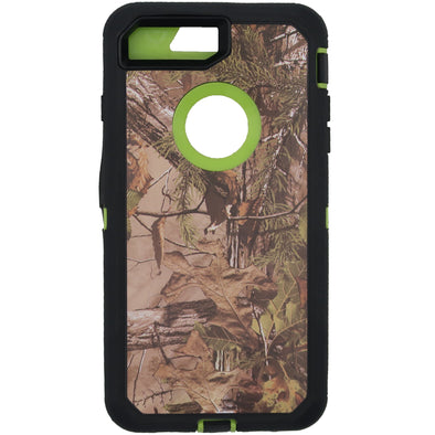 iPhone 7 Plus / 8 Plus Camo Series Case with Circle Hole Green
