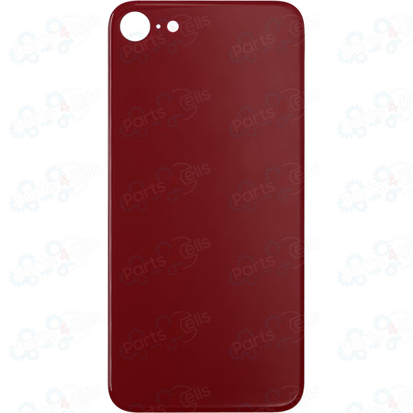 iPhone 8 Plus Back Glass without Camera Lens Red (No Logo)