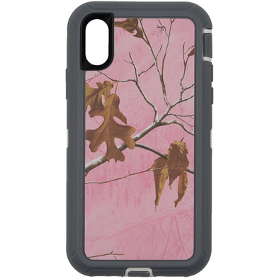iPhone X / XS Camo Series Case Pink and White