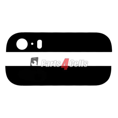 iPhone 5S Black Back Rear Housing Top & Bottom Glass Black