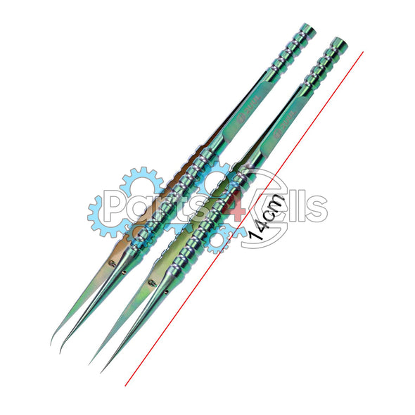 2UUL Straight Head Titanium Alloy Ultraprecise Tweezer