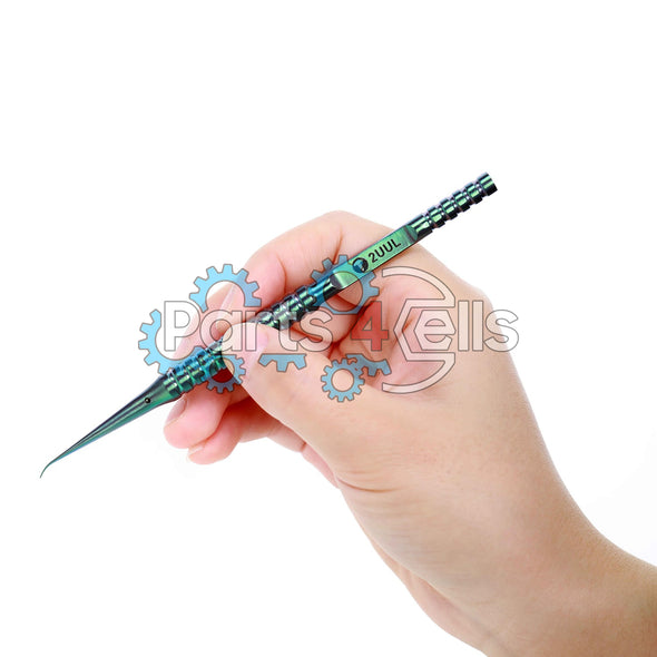 2UUL Curved Head Titanium Alloy Ultraprecise Tweezer