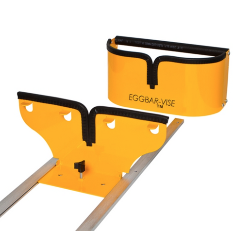 Double-Wide Eggbar Vise for Skis and Snowboards With Tracks