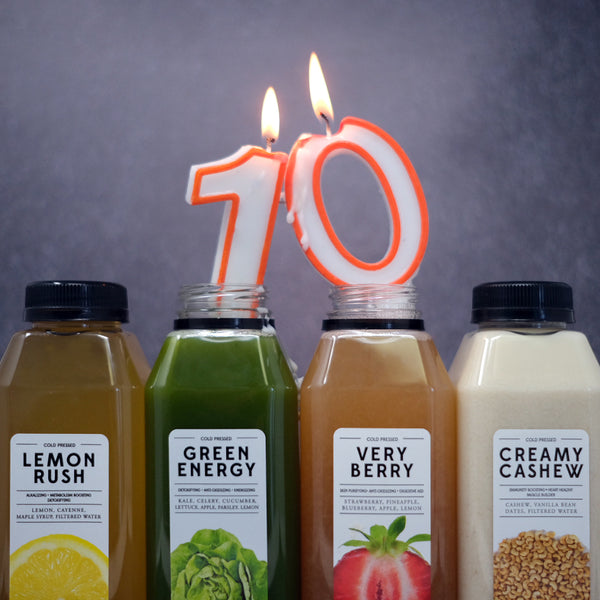 Celebrate 10 Years of Total Cleanse By Choosing Your Gift!