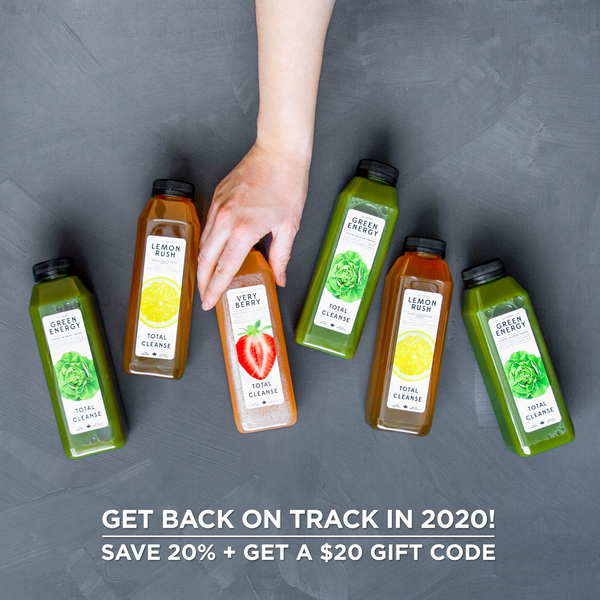 New Years Juice Cleanse Deal: Save 20% + Get a $20 Gift Card in 2020!