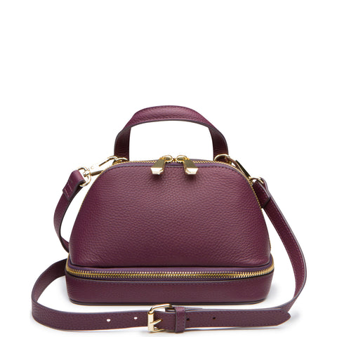 August Mini Satchel, Grape