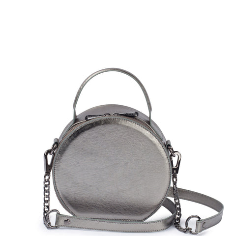 Bowie Circle Bag, Pewter