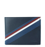 NAVY LEATHER BIFOLD WALLET