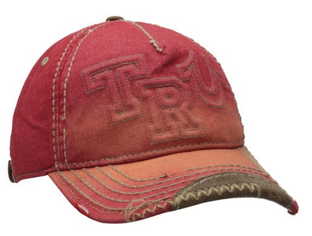 DISTRESSED RED TRUCKER CAP