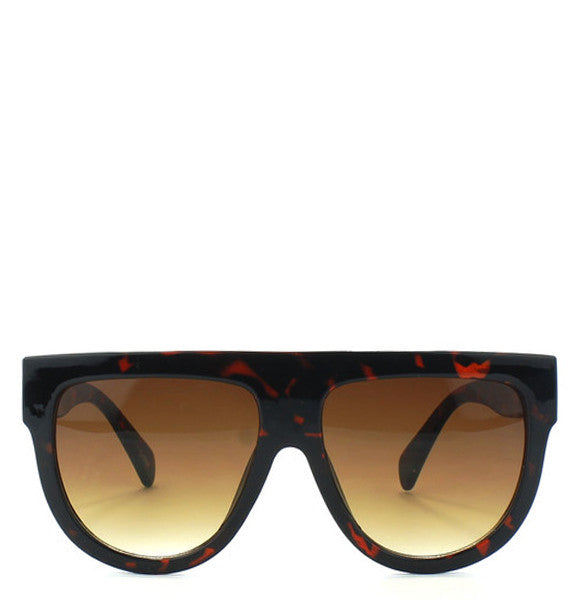 "Designer Inspired ""Shadow"" Flat Top Celebrity Sunglasses"