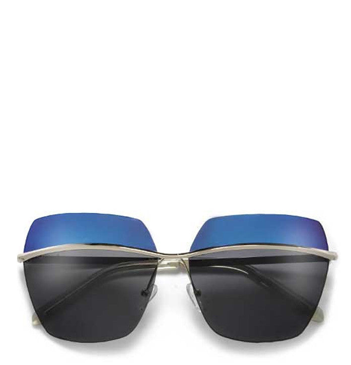 Square Oversized Two-Tone Sunglasses