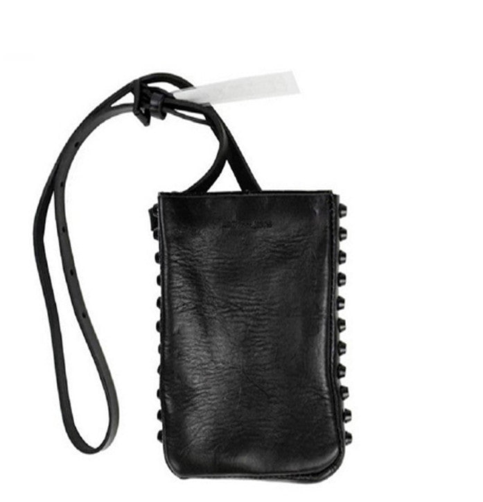 Studded Leather Fanny Pack Belt / Bag