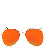Revo Orange Flat Top Aviator