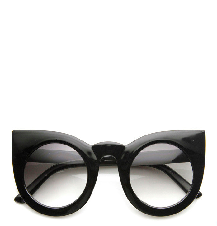 5b3c1576a7 Oversized Round Pointed Cat Eye Sunglasses – Fashion Diary L.A.