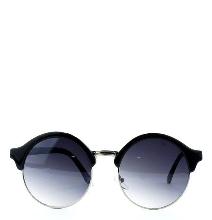 Round Semi-Rimless Sunglasses