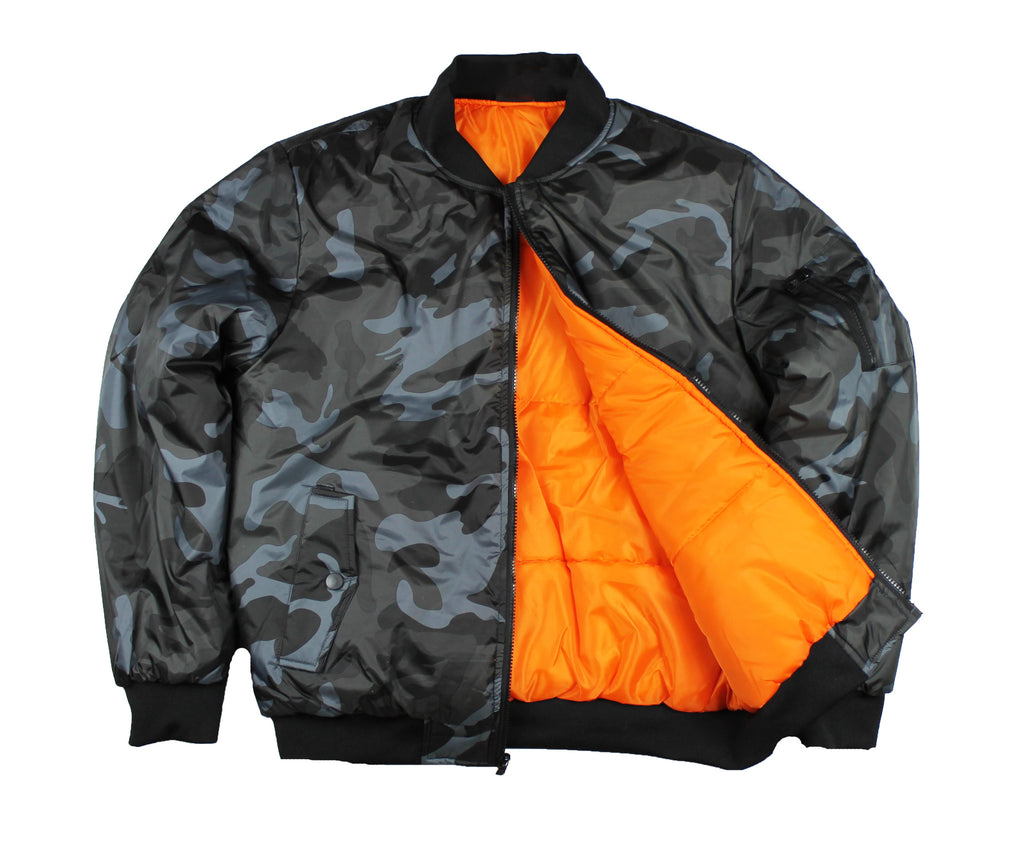 Men's MA-1 Camo Reversible Pilot Bomber Jacket