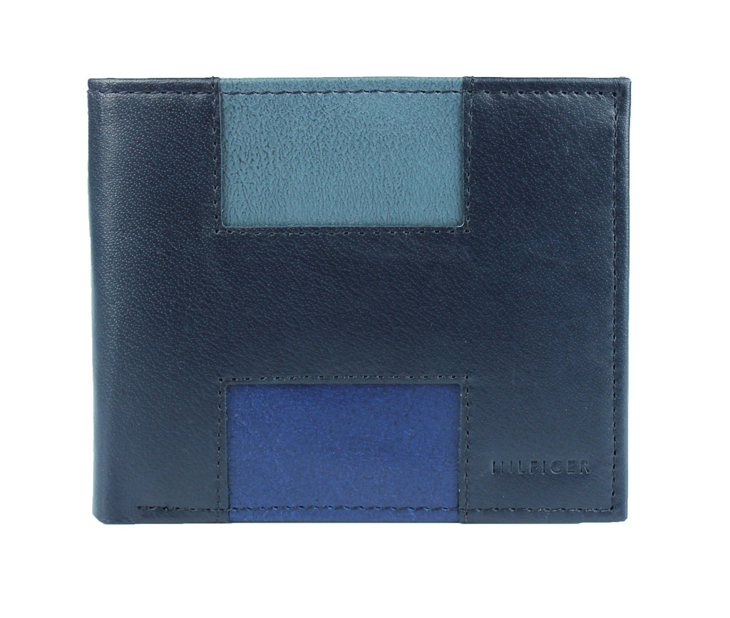 NAVY LEATHER DOUBLE BILLFOLD