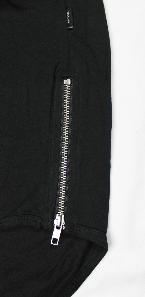 SIDE ZIPPER LONG T-SHIRT